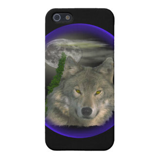 Wolf nachts iPhone 5 cover