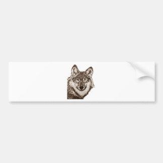 Wolf-Nerdkunst Autoaufkleber