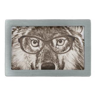 Wolf-Nerdkunst Rechteckige Gürtelschnallen