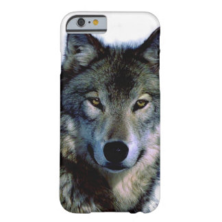 Wolf-Porträt Barely There iPhone 6 Hülle