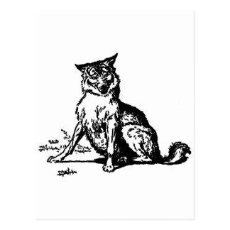 Wolf Postkarte