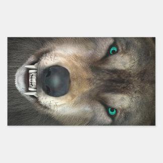Wolf Rechteckiger Aufkleber