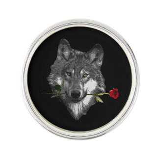Wolf-Rose Anstecknadel