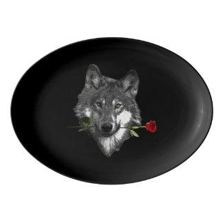 Wolf-Rose Porzellan Servierplatte