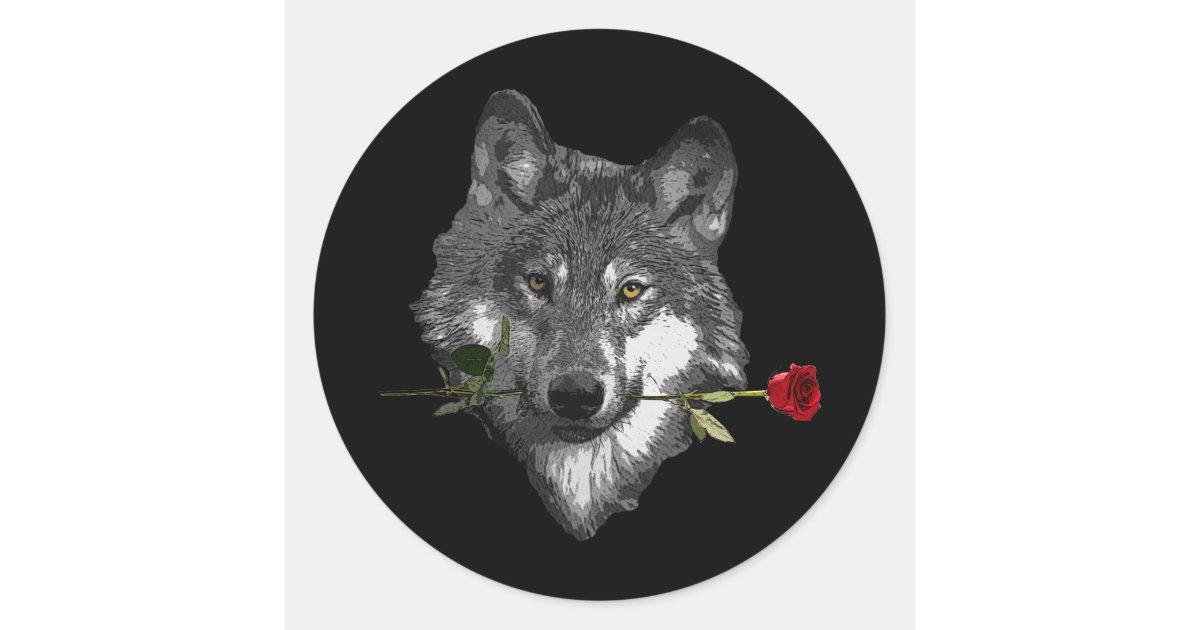 Aufkleber Wolf