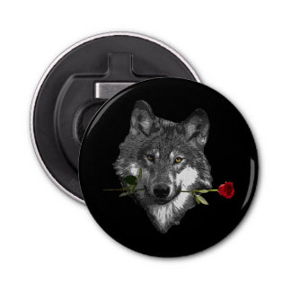Wolf-Rose Runder Flaschenöffner