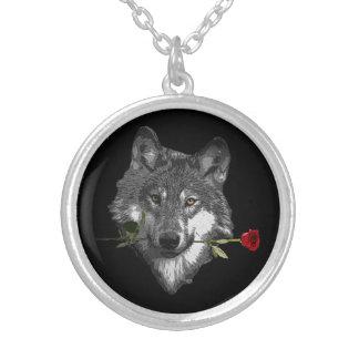 Wolf-Rose Versilberte Kette