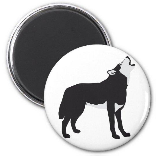 wolf runder magnet 5,1 cm