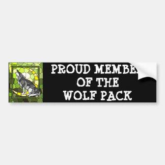 Wolf-Satz-Autoaufkleber Autoaufkleber