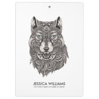 Wolf-schwarze verzierte Hauptillustration