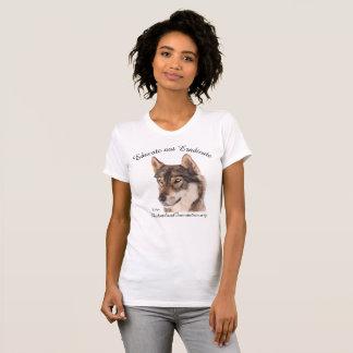 """Wolf-Shirt """"erziehen nicht auszurotten """" T-Shirt"""