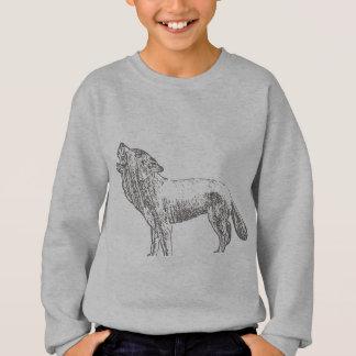 Wolf-Skizze Sweatshirt