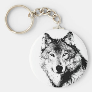 Wolf Standard Runder Schlüsselanhänger