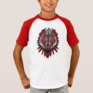Wolf-Tätowierungs-Arthaida-Kunst V-Hals scherzt T T-Shirt