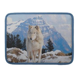Wolf-u. Gebirgstier-Kunst-MacBook-Klappen-Kasten Sleeve Für MacBook Pro