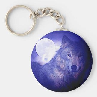 Wolf u. Mond Schlüsselanhänger