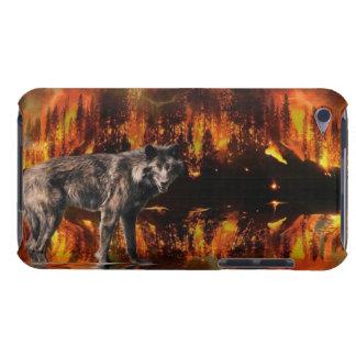 Wolf-u. Waldbrand-Tier-Kunst-Telefon-Kasten Barely There iPod Hülle