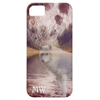 Wolf- und Mondphantasie gestalten intial iphone iPhone 5 Hüllen