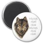 Wolf-und Satz-Zitat - Tiersammlung Runder Magnet 5,1 Cm