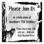 Wolf-und Vollmond-gotische Geburtstags-Einladung