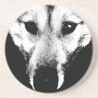 Wolf-Untersetzer-heiserer Getränkeuntersetzer