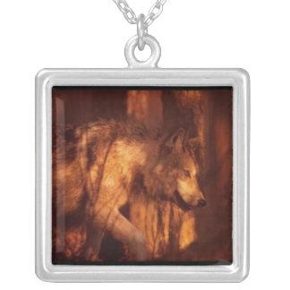 Wolf Versilberte Kette