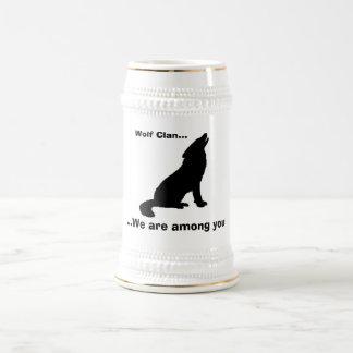 Wolf, Wolf-Clan…,… gehören wir zu Ihnen Bierglas