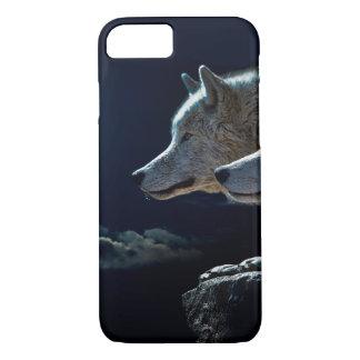 Wolf-Wölfe, die am Vollmond heulen iPhone 8/7 Hülle