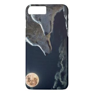 Wolf-Wölfe, die am Vollmond nachts heulen iPhone 8 Plus/7 Plus Hülle