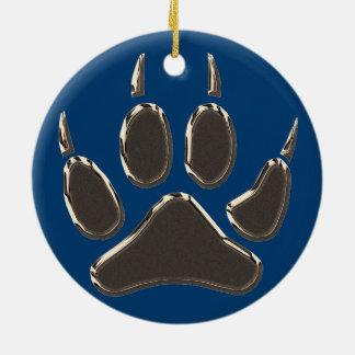 Wolfabdruck Keramik Ornament
