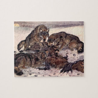 Wölfe durch Winifred Austen, Vintage wilde Tiere Puzzle