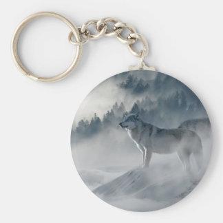 Wölfe im Winter Keychain Schlüsselanhänger