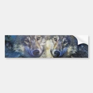 Wölfe in der Nacht Autosticker