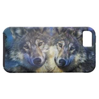 Wölfe in der Nacht iPhone 5 Schutzhülle