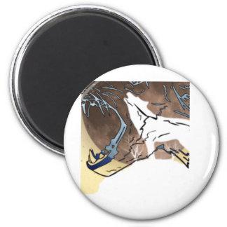 Wölfe Runder Magnet 5,7 Cm