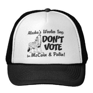 Wölfe sagen wählen nicht McCain Fernlastfahrer-Hut Baseballkappe