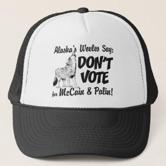 Wölfe sagen wählen nicht McCain Fernlastfahrer-Hut Truckerkappe
