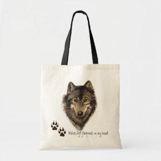 Wölfe verließen Abdrücke auf meinem Herzen, Wolf-Z Taschen