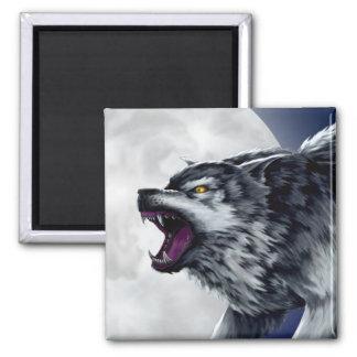 Wolfes Wolf Quadratischer Magnet