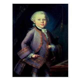 Wolfgang Amadeus Mozart, 1763 Postkarte