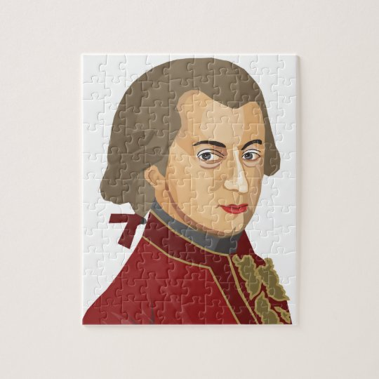 Wolfgang Amadeus Mozart als Puzzle