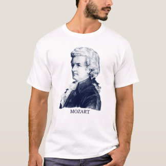 Wolfgang Amadeus Mozart, blau T-Shirt