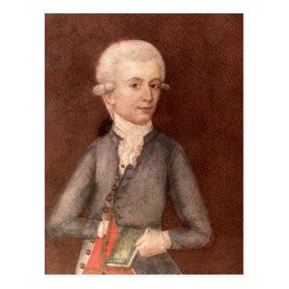 Wolfgang Amadeus Mozart, c.1780 Postkarte