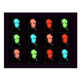 Wolfgang Amadeus Mozart-Collage Postkarte
