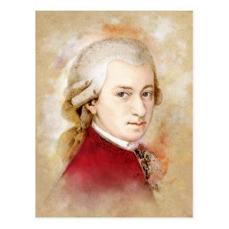Wolfgang Amadeus Mozart im Aquarell Stil Postkarte