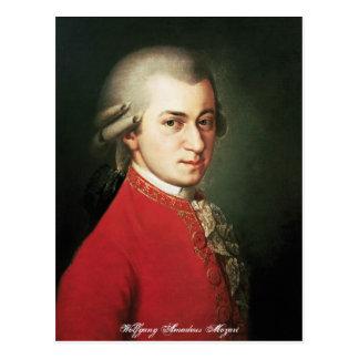 Wolfgang Amadeus Mozart-Postkarte Postkarte