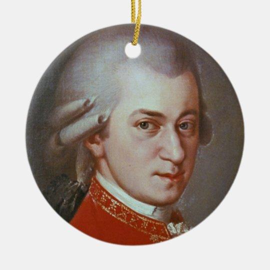Wolfgang Amadeus Mozart Rundes Keramik Ornament