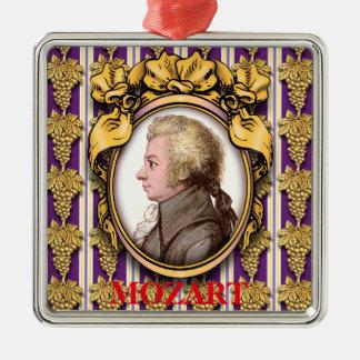 Wolfgang Amadeus Mozart Silbernes Ornament