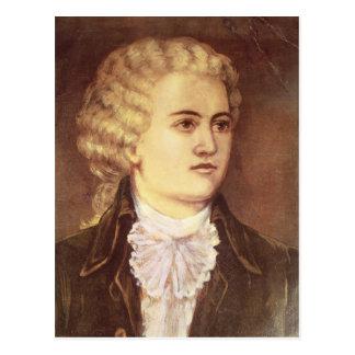 Wolfgang Amadeus Mozart während seines Aufenthalts Postkarte