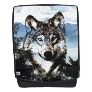 Wolfgesicht im Himmel Rucksack